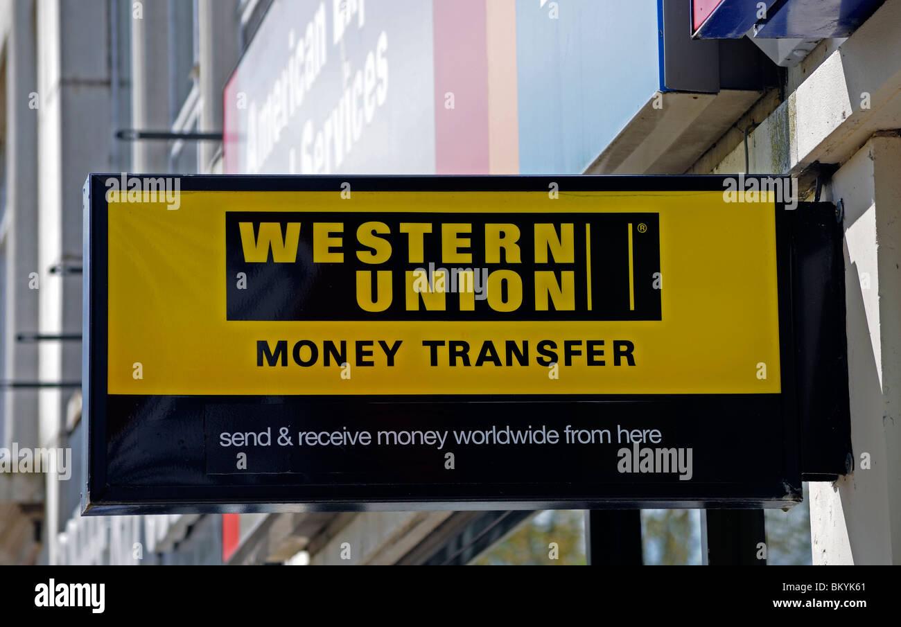 Western Union signe, uk Photo Stock