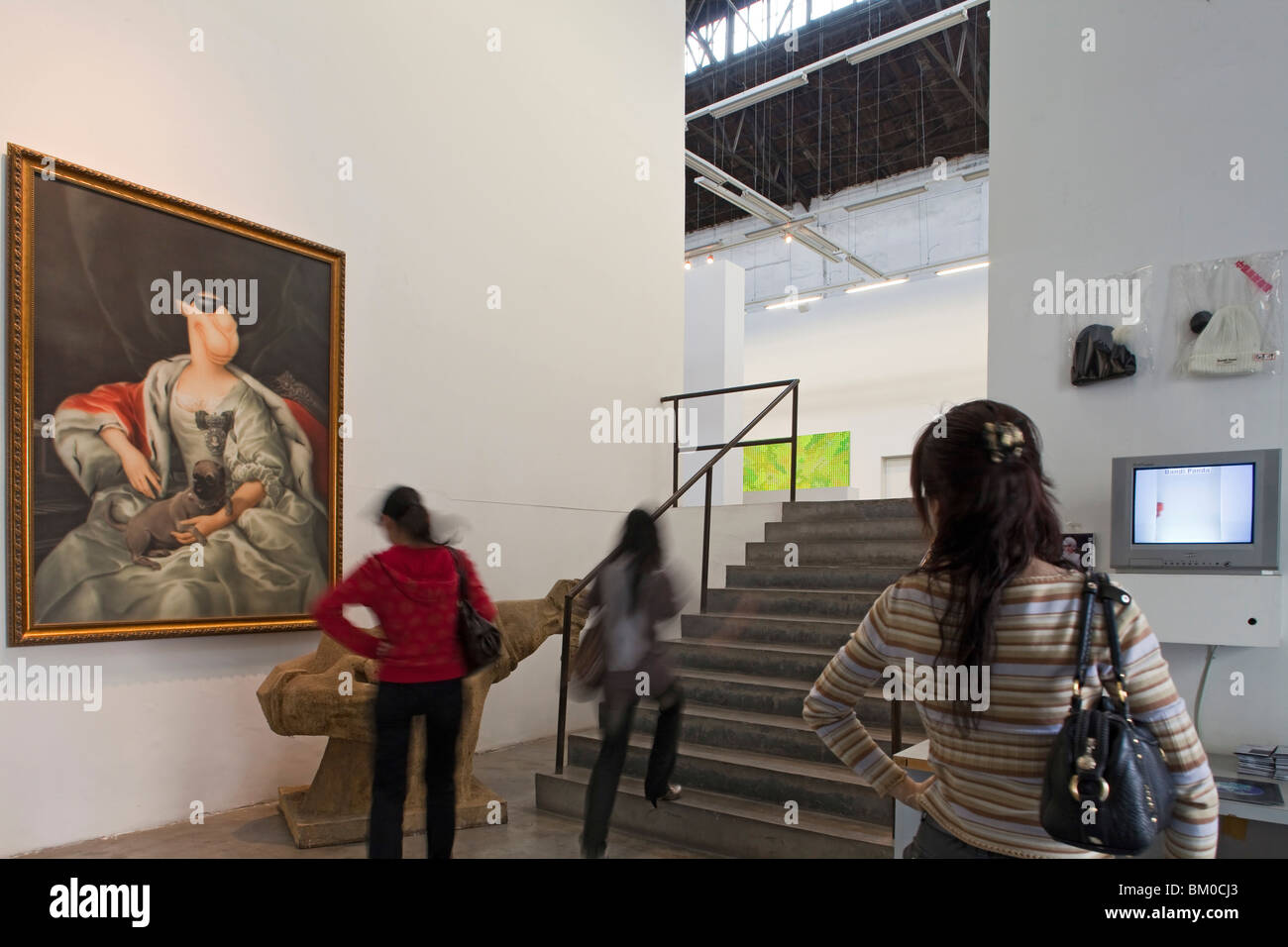 Les gens à ShanghART art gallery, Wensan Road, Shanghai, China, Asia Photo Stock