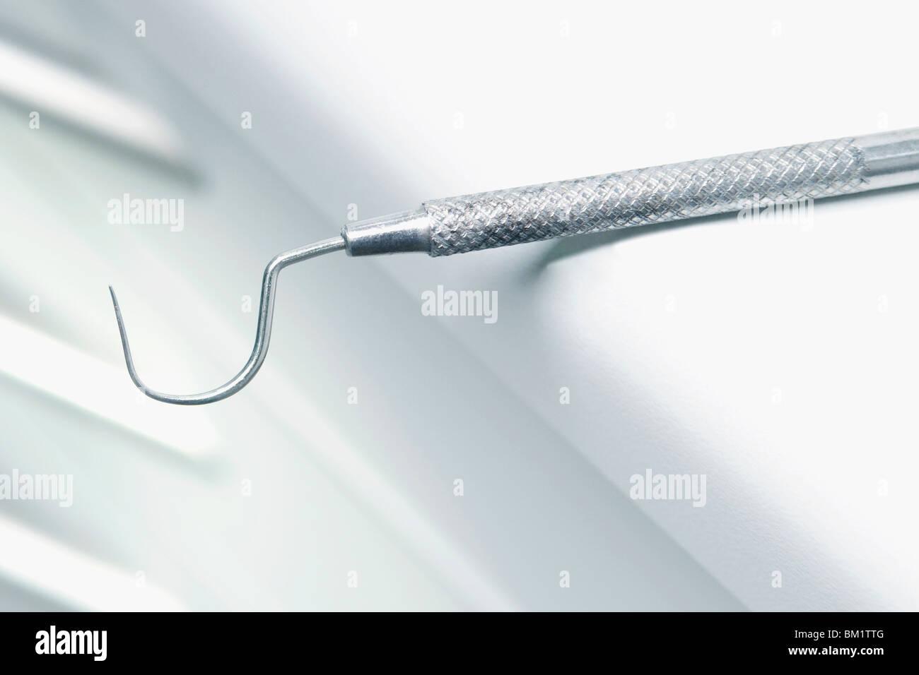 Close-up d'un détartreur dentaire dans une salle d'examen Photo Stock
