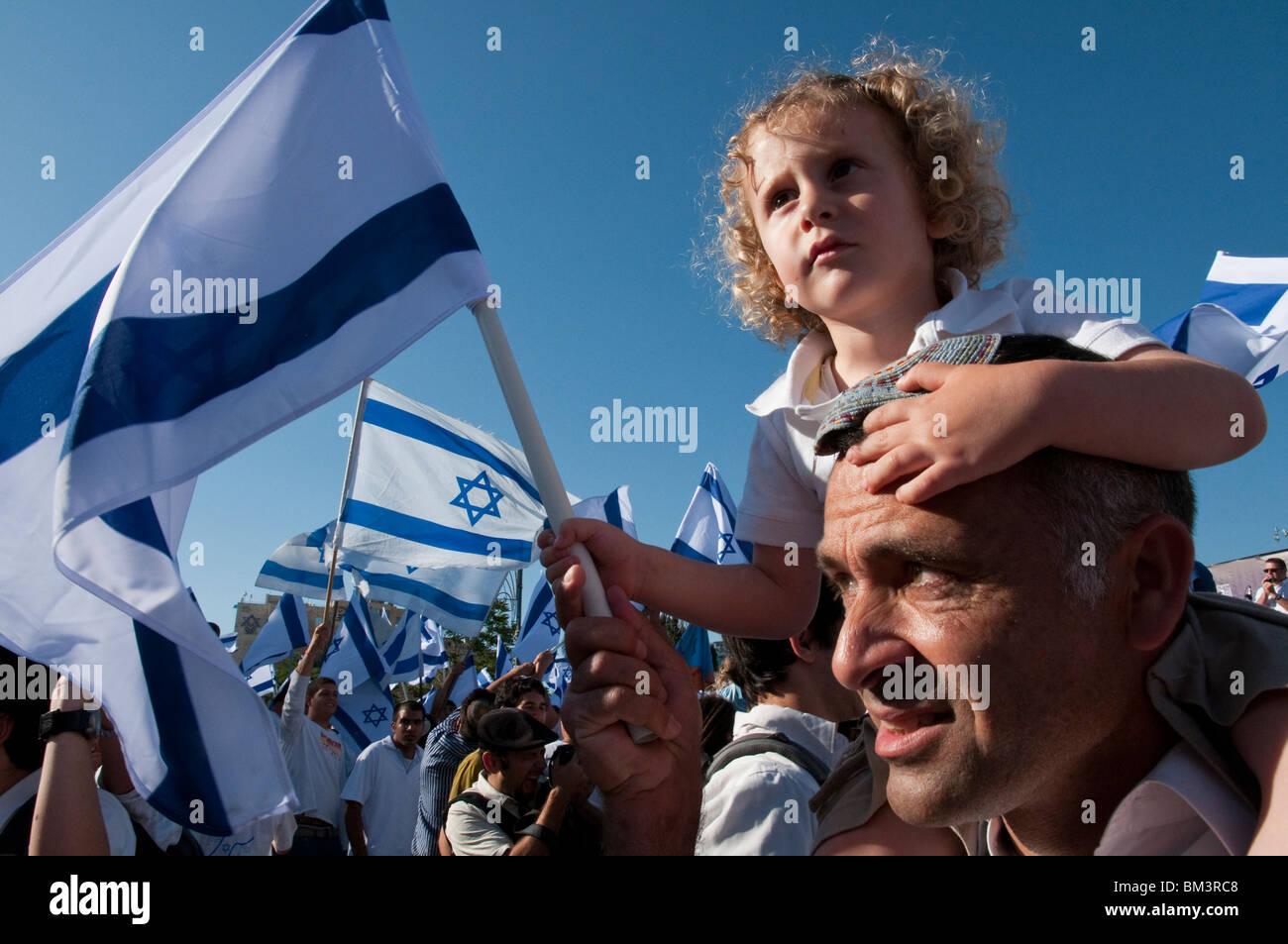 Israël. Jérusalem. La Journée de Jérusalem. La danse du pavillon Photo Stock