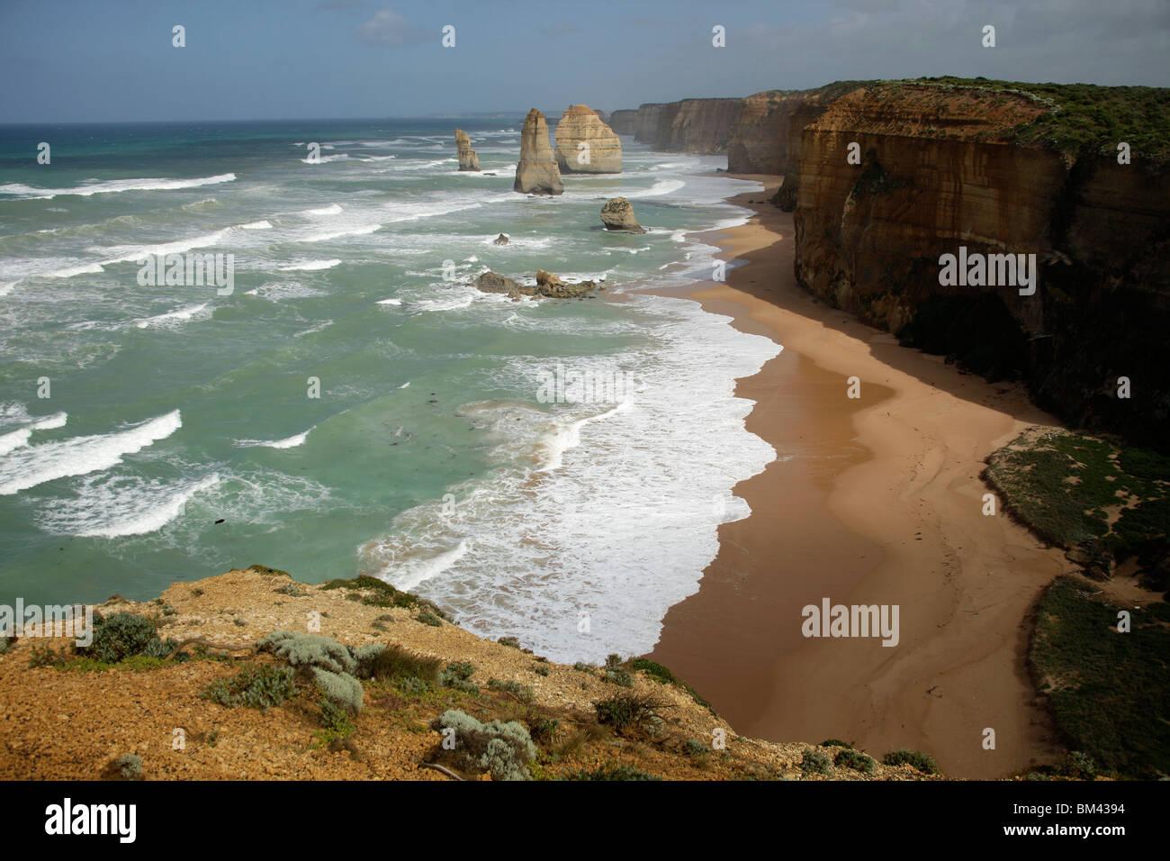 La célèbre côte avec douze apôtres au Port Campbell National Park, Great Ocean Road, Victoria, Photo Stock