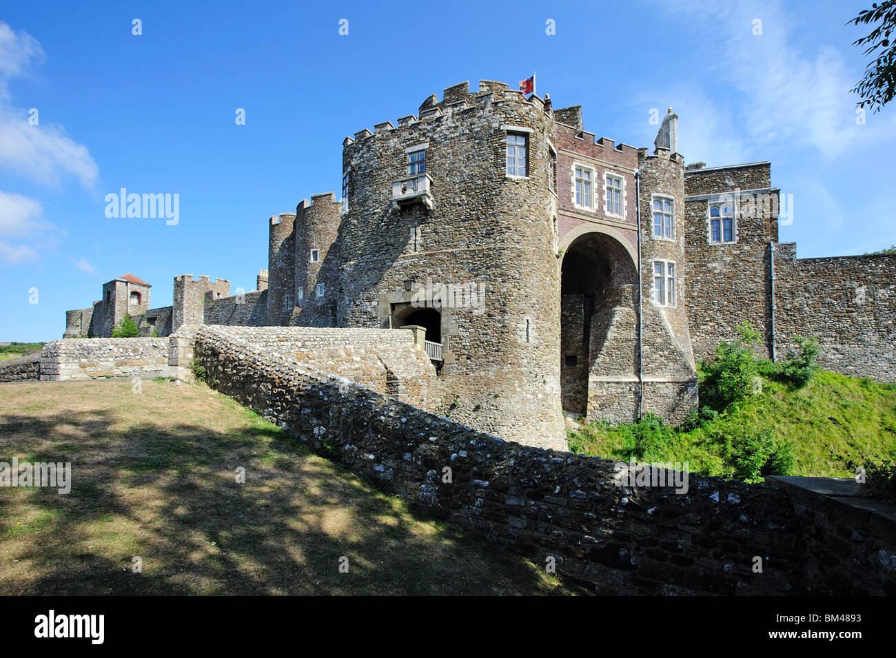 Entrée du château de Douvres Kent UK Photo Stock