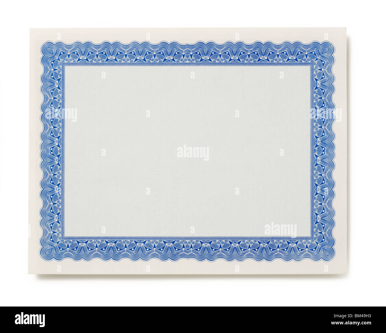 Vierge du certificat Photo Stock