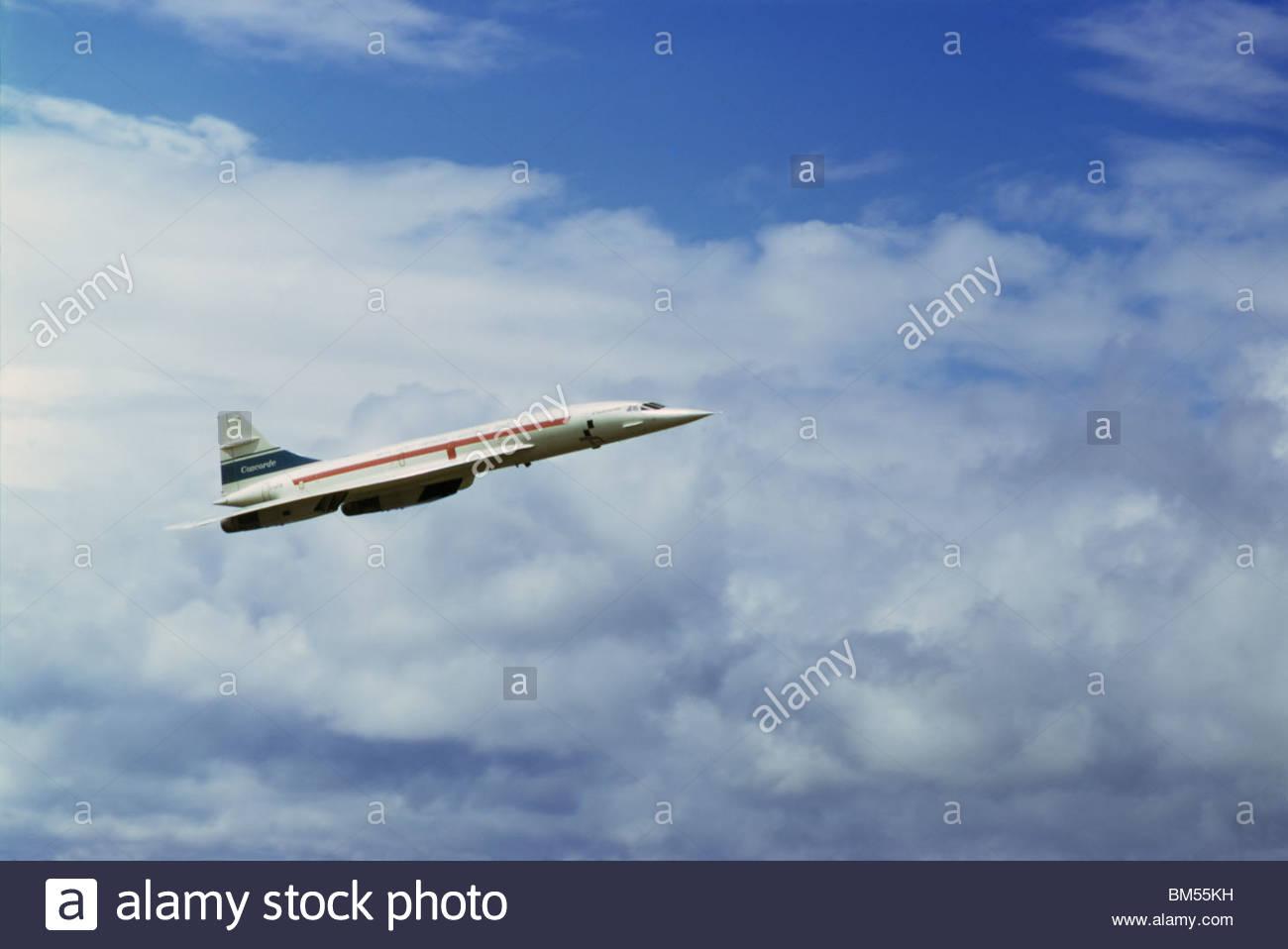 Avion Concorde 101 F-BVFC (une version de pré-production avant que la production de la version de la compagnie aérienne) Banque D'Images