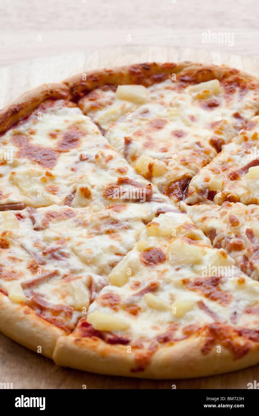 Vue aérienne d'une Pizza Banque D'Images