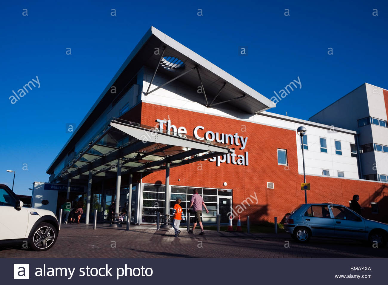 L'Hôpital du comté, Hereford, Herefordshire, Angleterre. Photo Stock