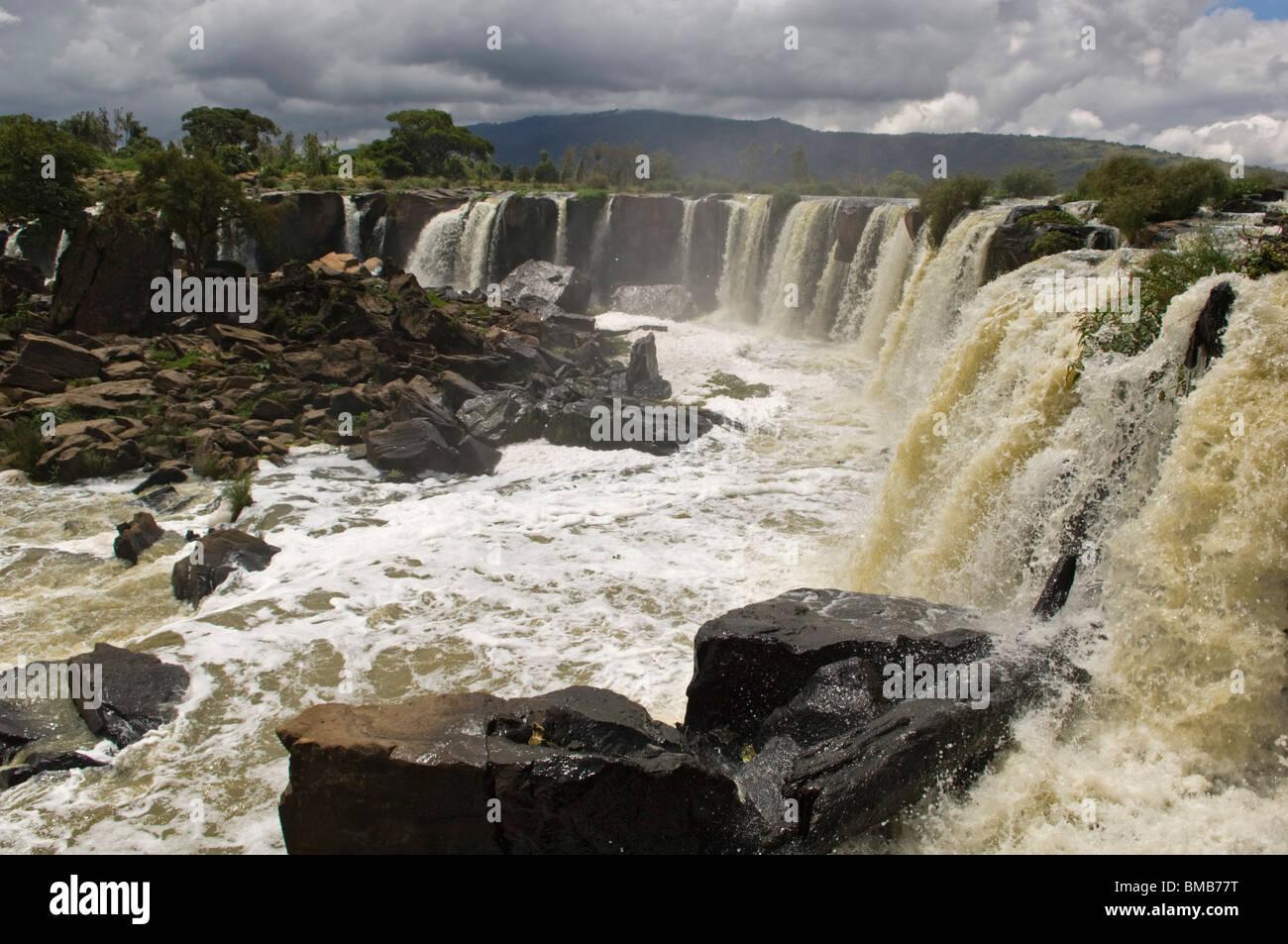 Quatorze Falls sur l'Athi River, près de Thika Kenya Photo Stock