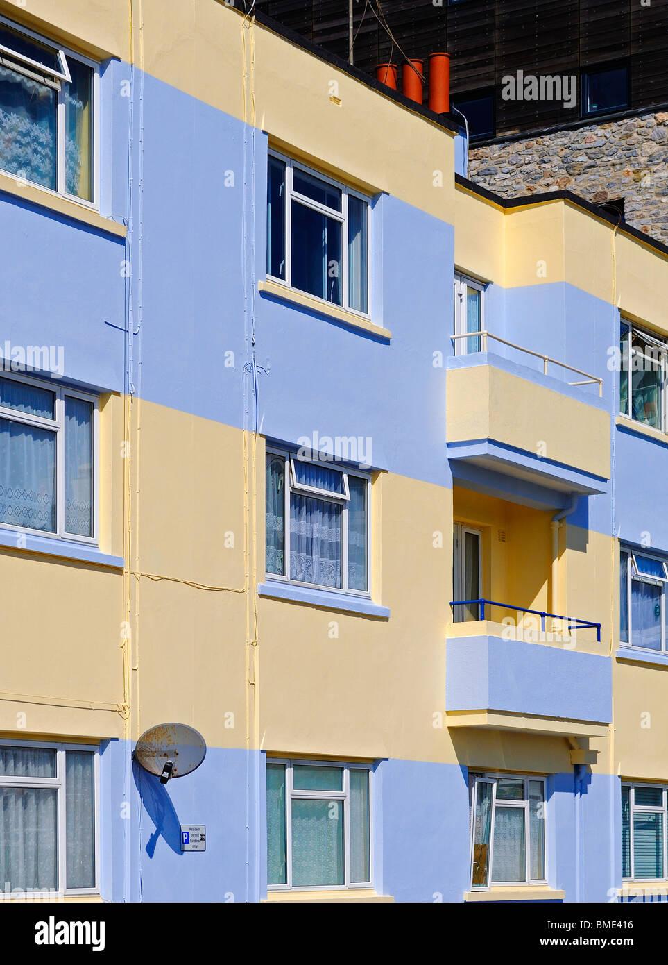 Appartements donnant sur le Barbican de Plymouth, Devon, UK Photo Stock
