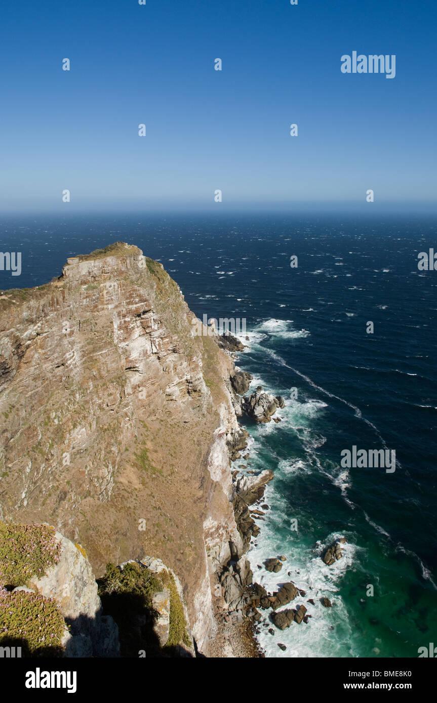 Portrait de falaise avec ocean Photo Stock