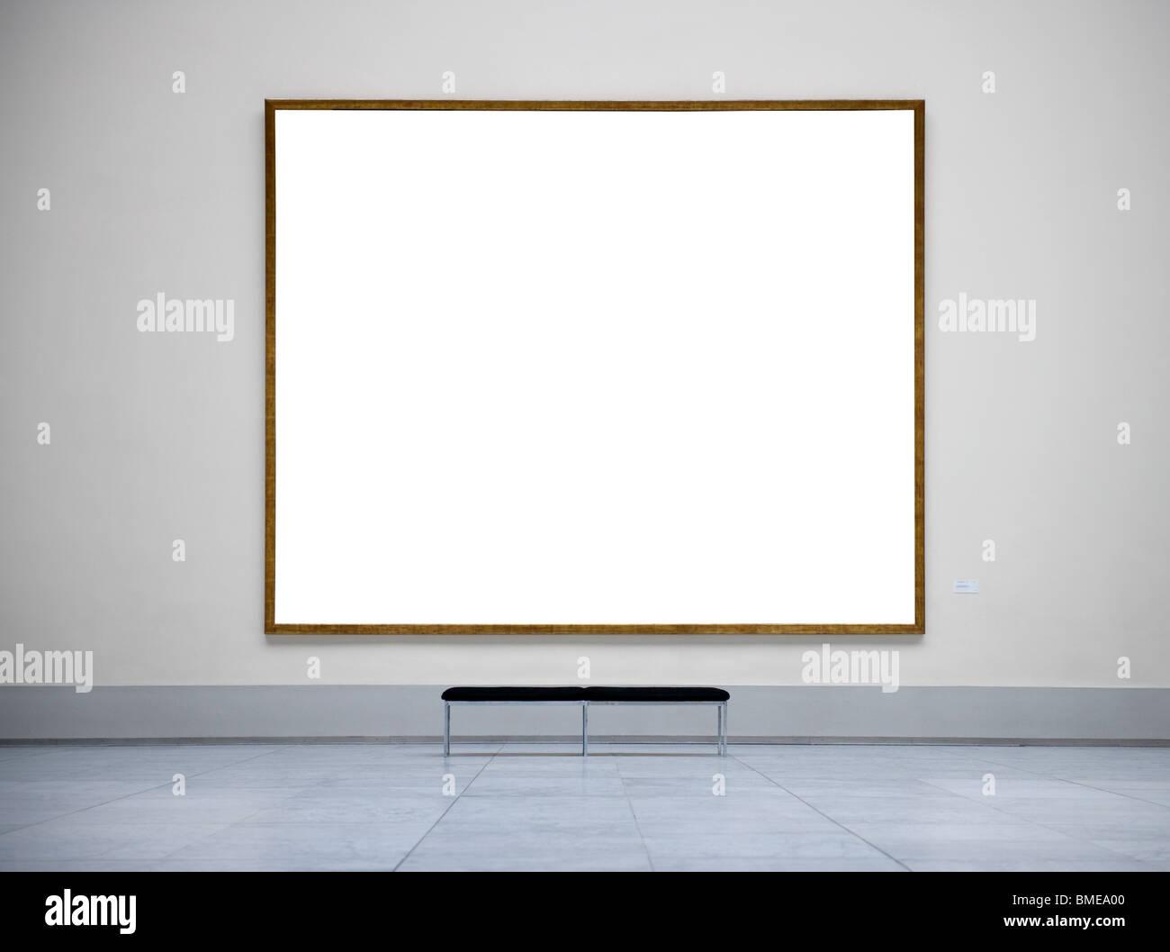 Cadre vide dans un musée Photo Stock