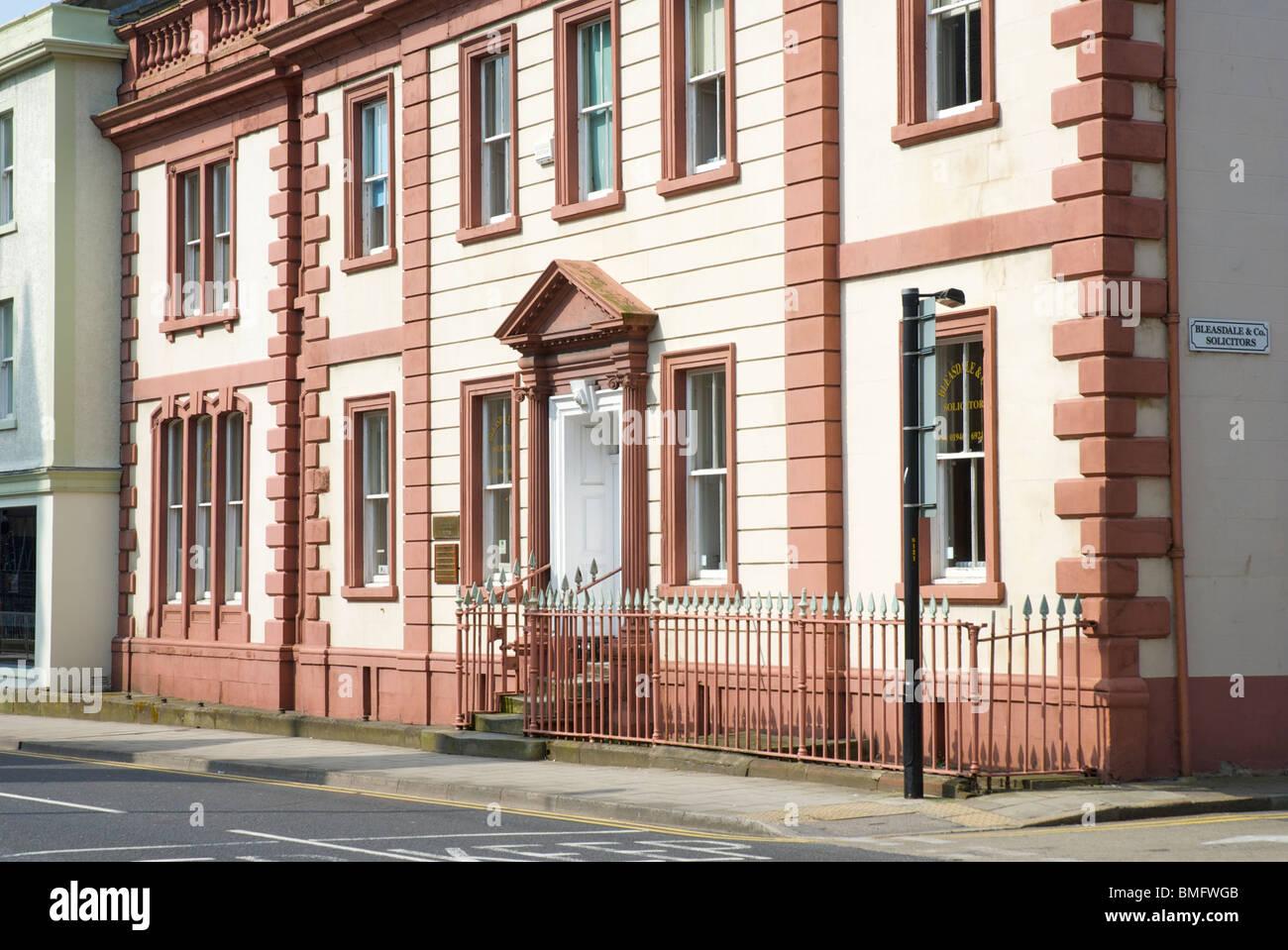 L'architecture géorgienne à Whitehaven, Cumbria, Angleterre, Royaume-Uni Photo Stock