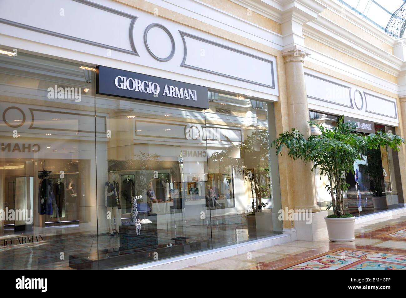 Giorgio Armani magasin au Bellagio Hotel, Las Vegas, Nevada, USA ... a0ed65b0681e