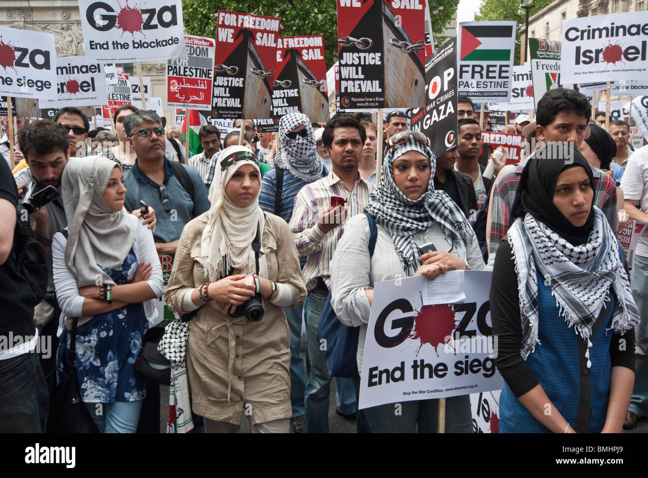 Manif contre Israël Photo Stock