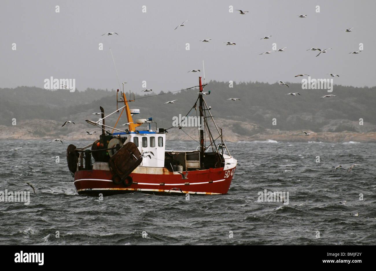 Fishingboat suédois Photo Stock