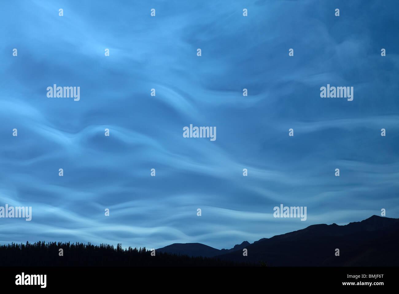 Un ciel de Jasper National Park, Alberta, Canada Photo Stock