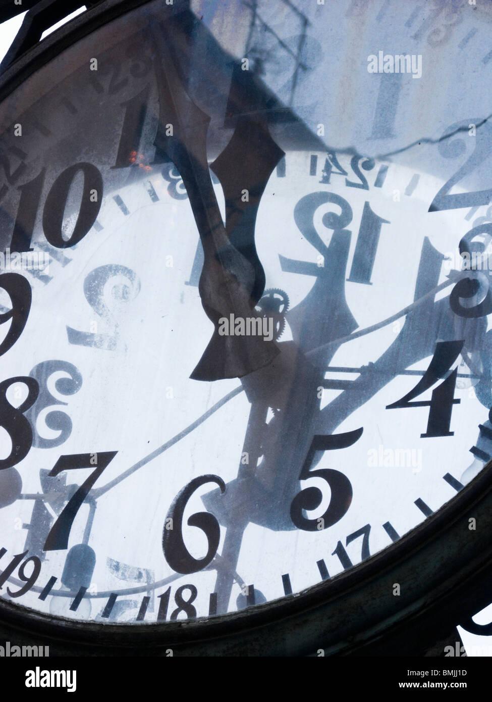 Une horloge, la Suède. Photo Stock