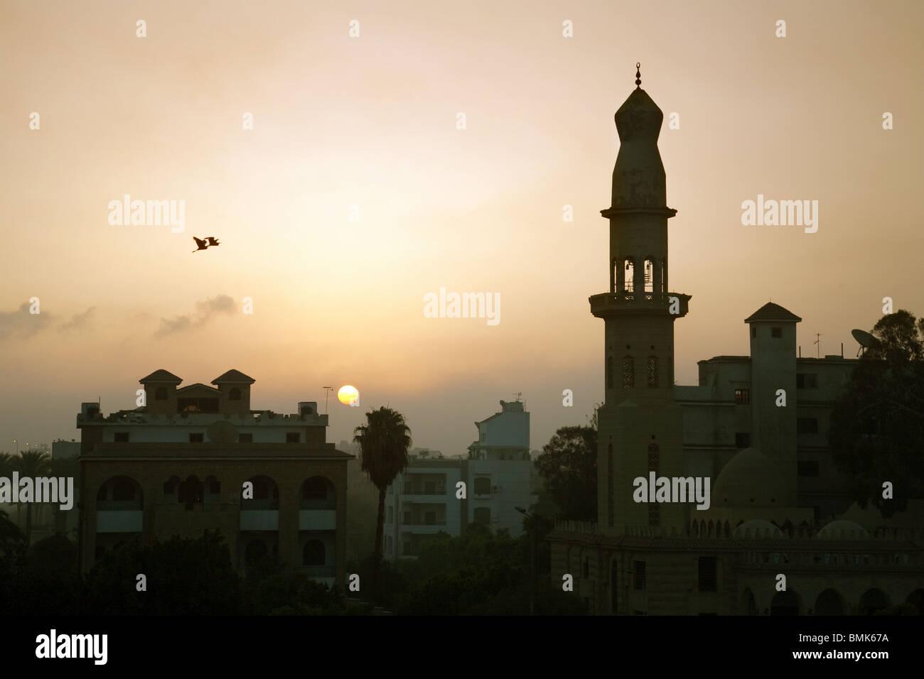 Lever de soleil sur Le Caire, Egypte, Afrique du Sud Photo Stock