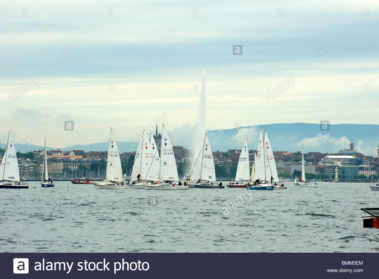 Genève, Suisse, 12 juin 2010: Le Bol d'or. Le Bol d'Or est le plus grand lac d'Europe avec Photo Stock