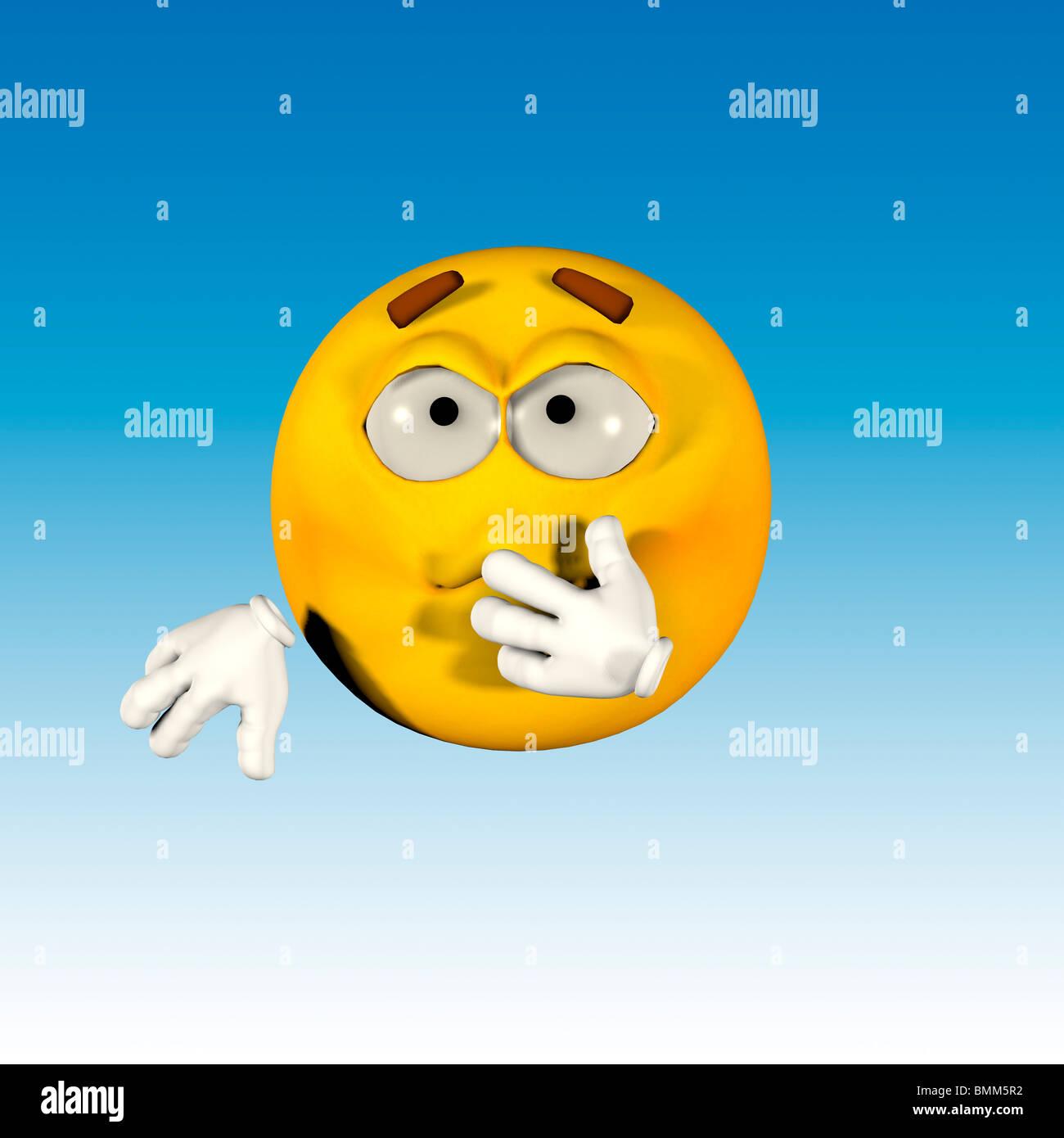 Emoticone Malade De Sentiment Photo Stock Alamy