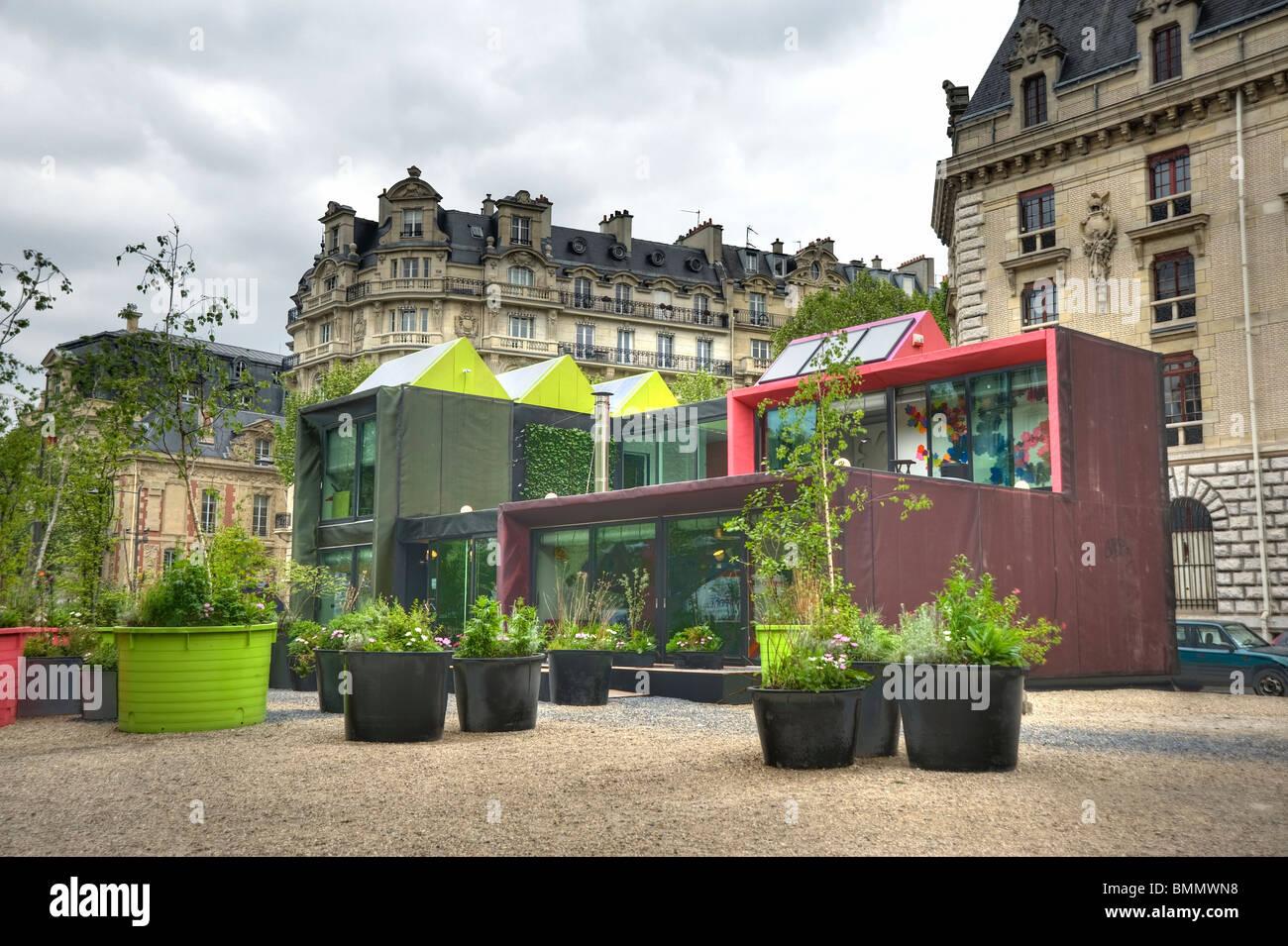 Paris, Maison passive Photo Stock