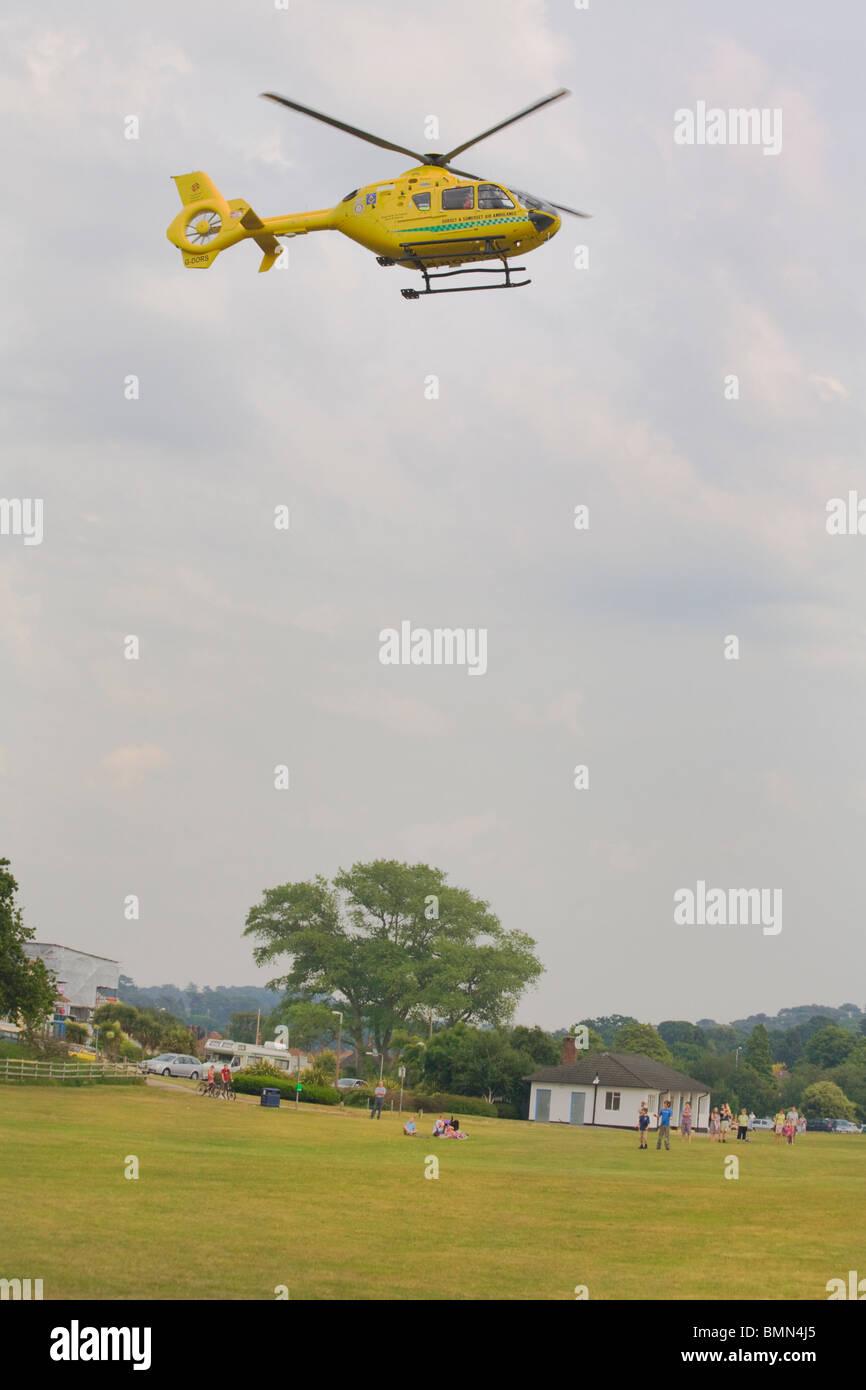 Dorset et Somerset (d'ambulance aérienne par hélicoptère Eurocopter EC 135 T2+) Photo Stock