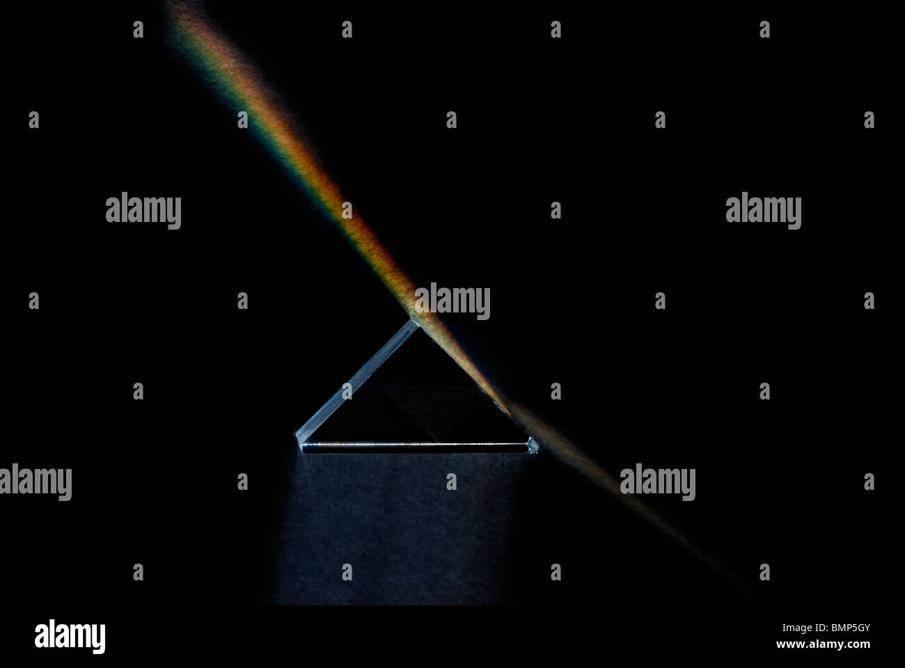 Prisme triangulaire Photo Stock