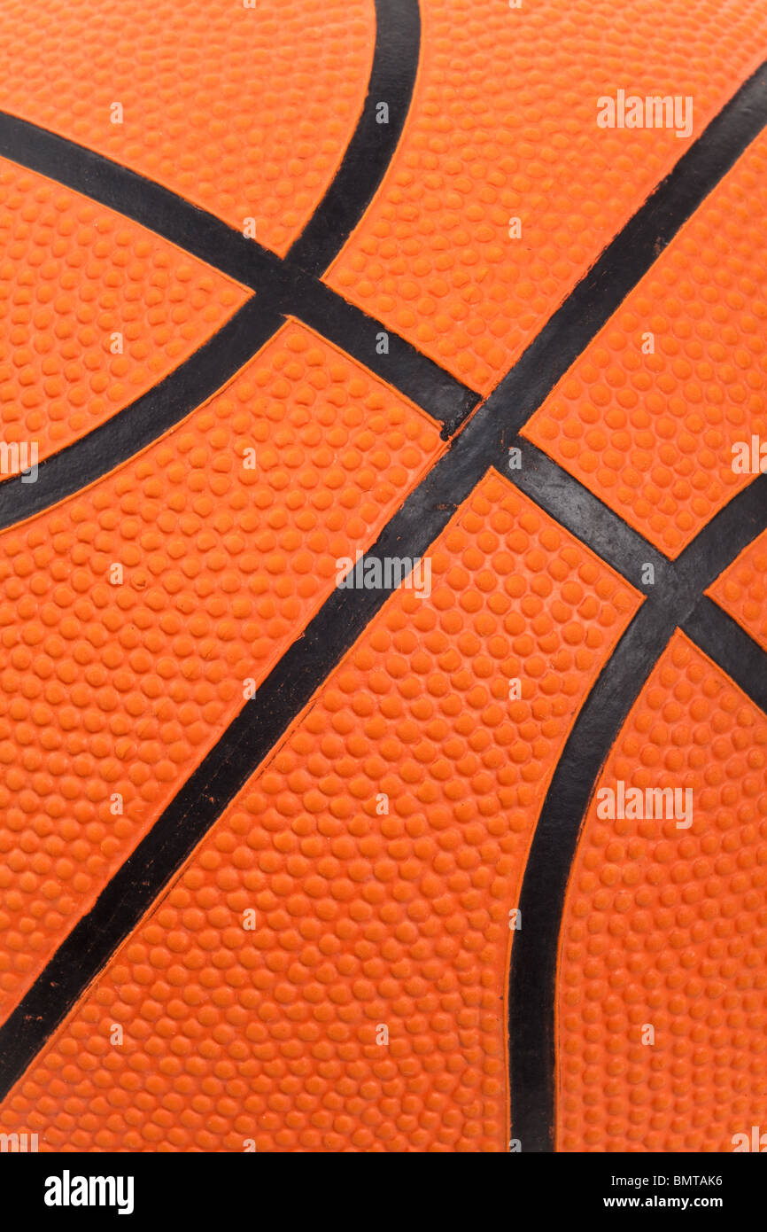 Basket-ball orange gros plan Photo Stock