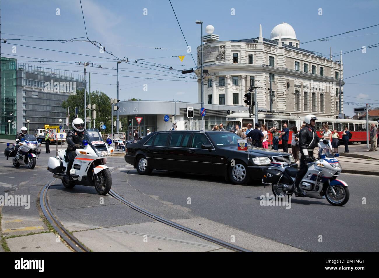 Visite de Vladimir Poutine en 2007 Vienne, Autriche Photo Stock