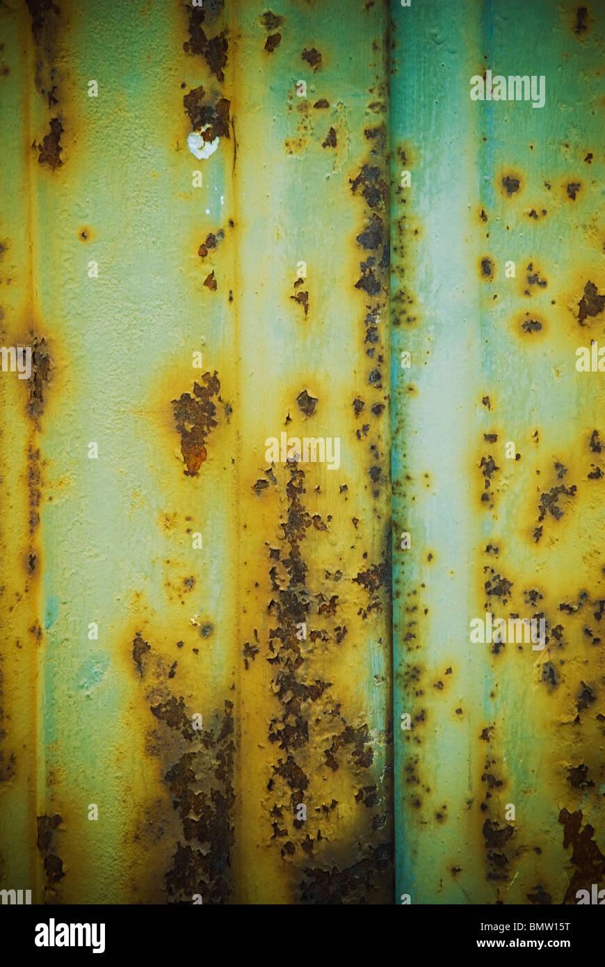 Résumé fond surface texture métal rouillé Photo Stock
