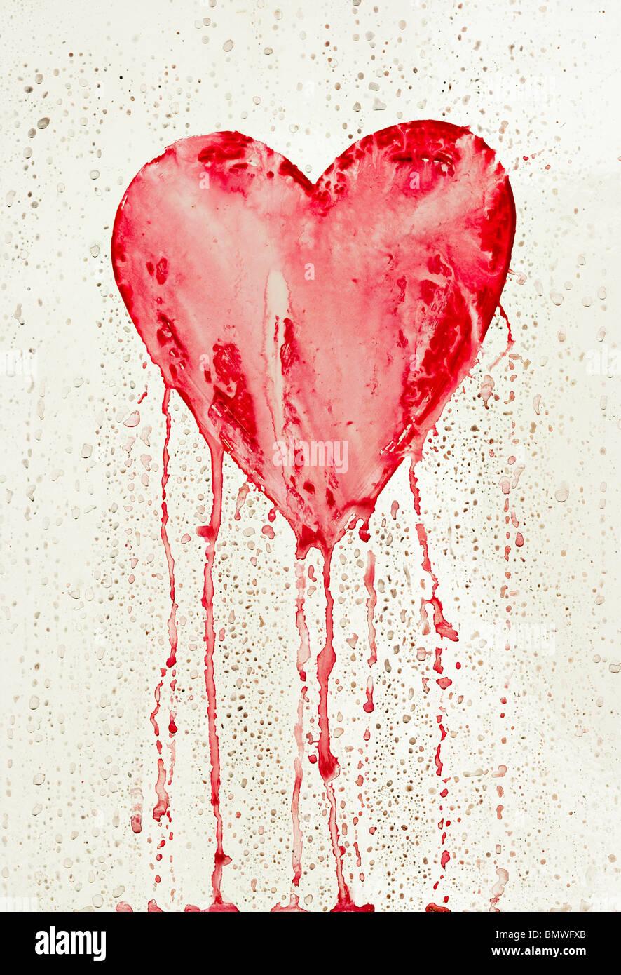 Bleeding Heart - symbole de l'amour Photo Stock