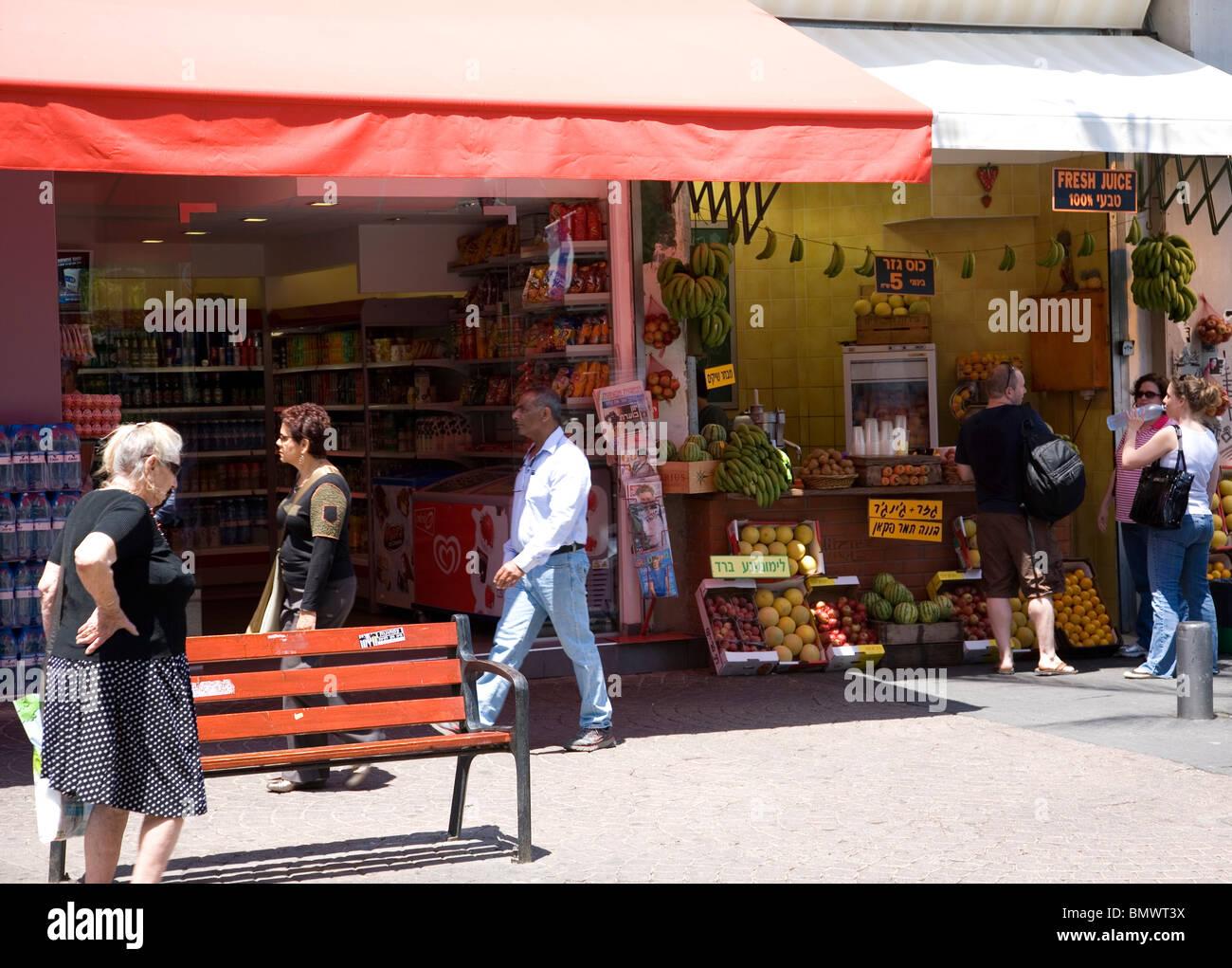 Nakhalat Jus de Binyamin et boutiques de décrochage Photo Stock 0dbe00cff317