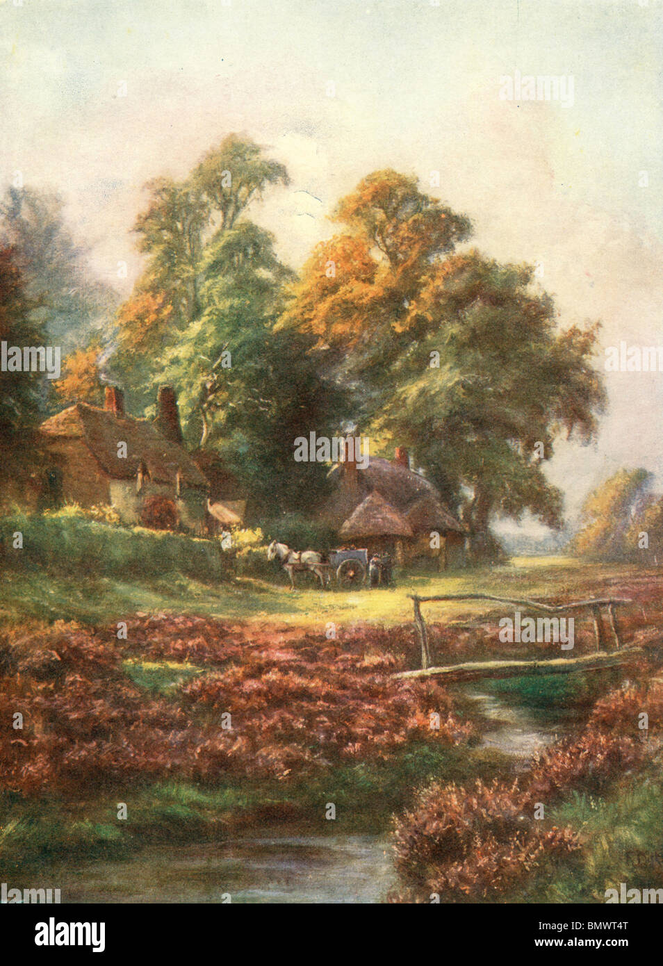 L'automne dans un village Photo Stock