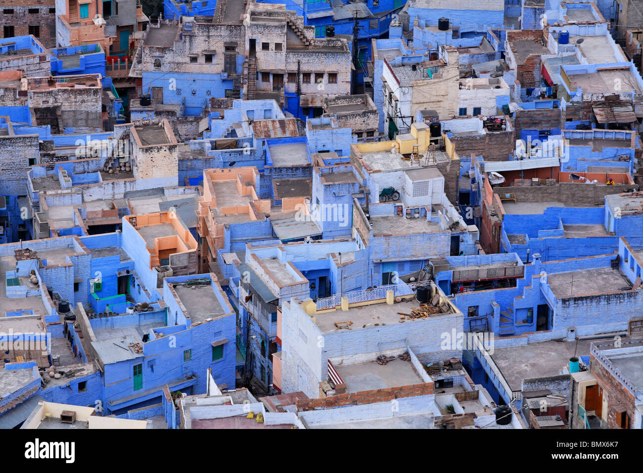La ville bleue, Jodhpur, Rajasthan, India Banque D'Images