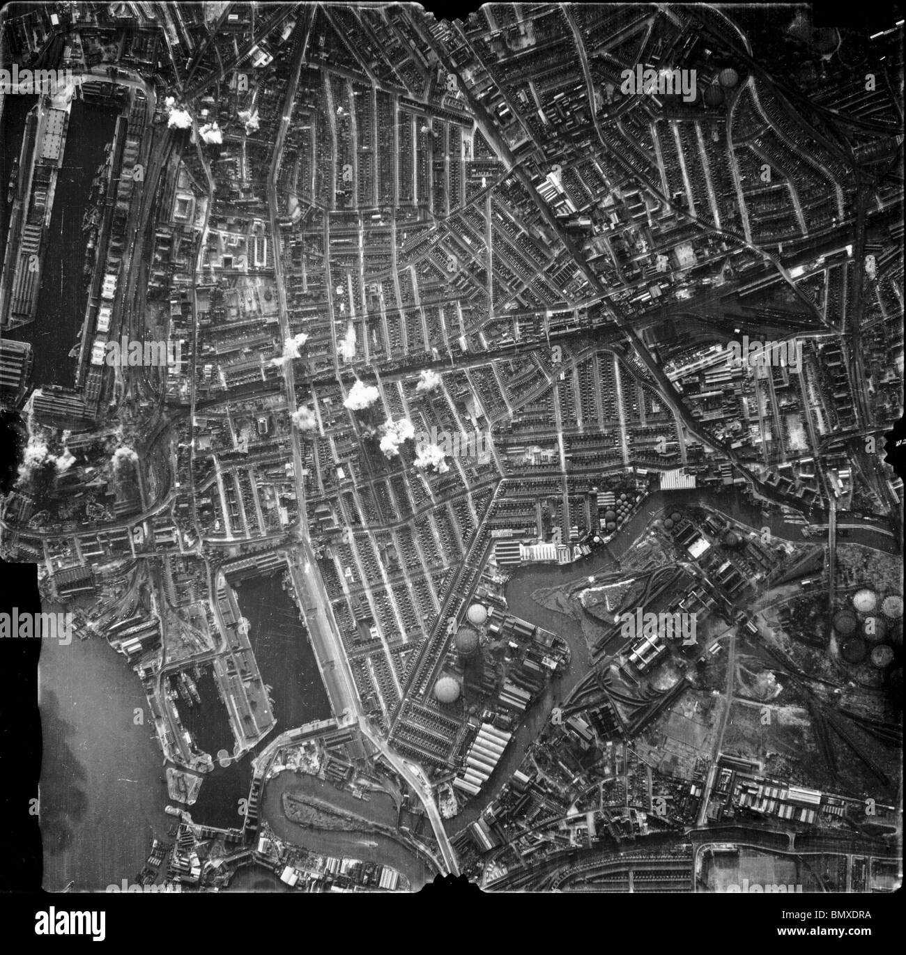 Bombardement de la Luftwaffe blitz sur Londres Banque D'Images