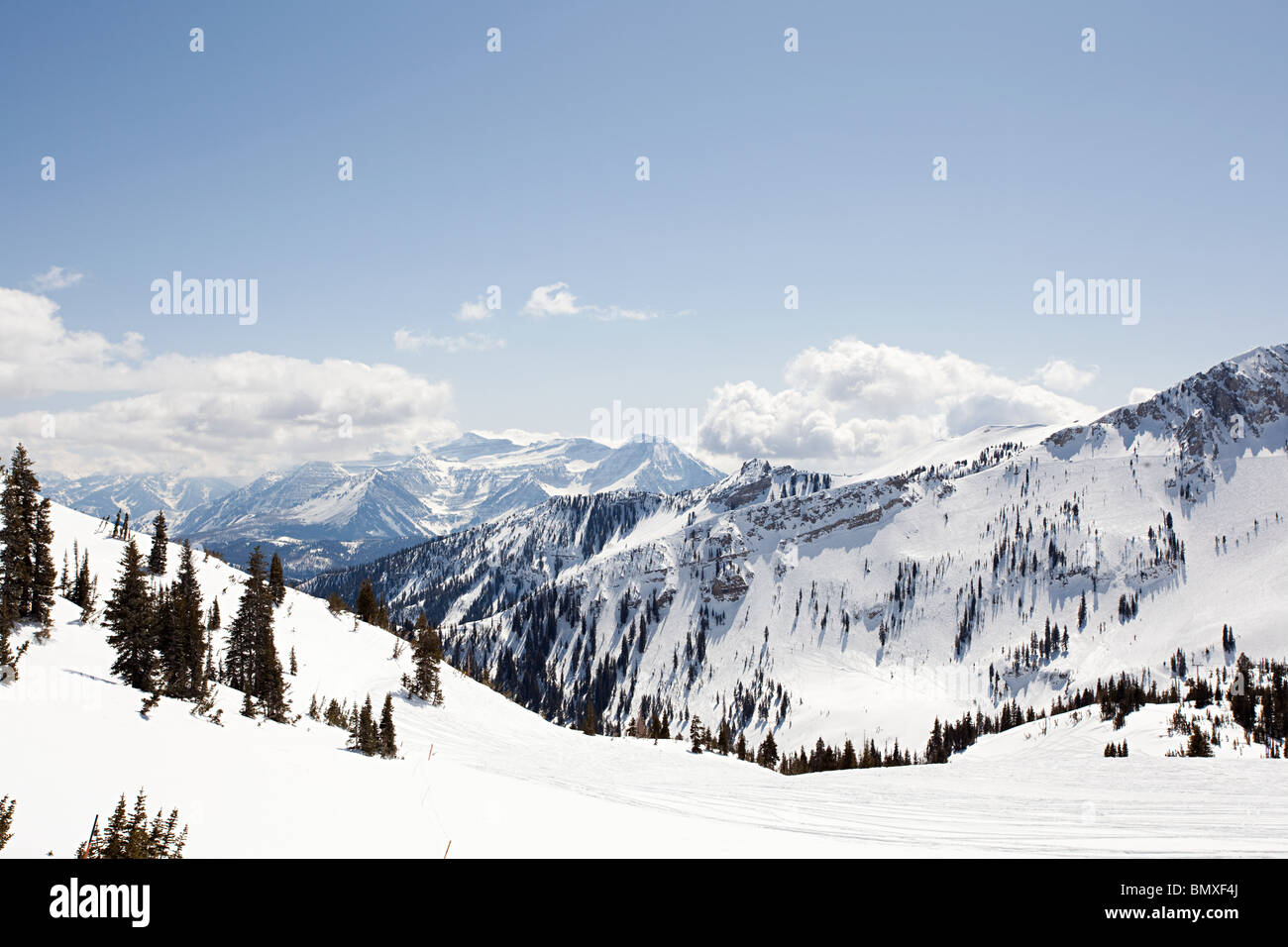 Station de ski de l'Utah USA Photo Stock