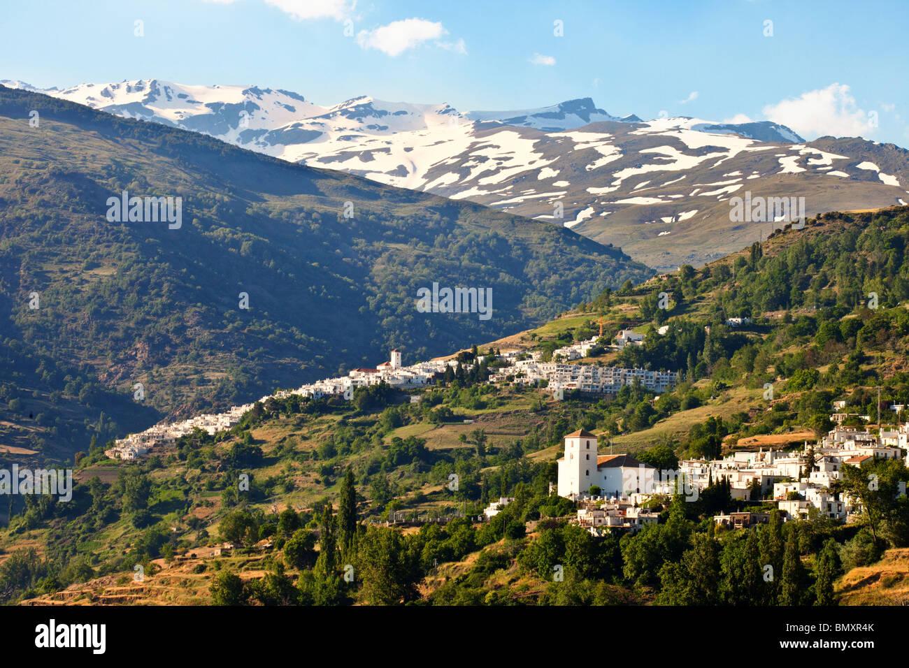 Capileira Et Bubion Villages Sous La Neige Des Montagnes Alpujarra Andalousie Sierra Nevada Espagne Photo Stock Alamy