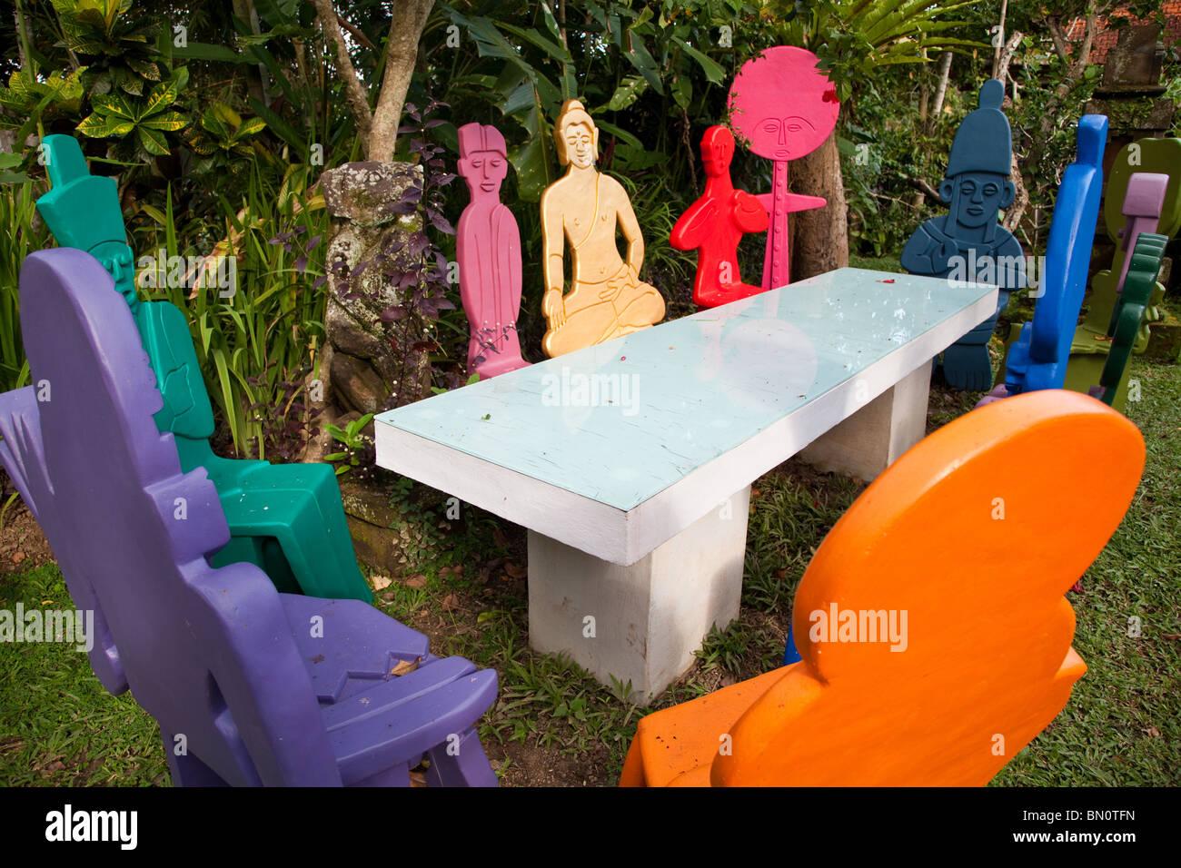 """""""Le réchauffement de la Conference 2020 Ubud' Installation 1 par Adi Bachmann au Musée ARMA Photo Stock"""