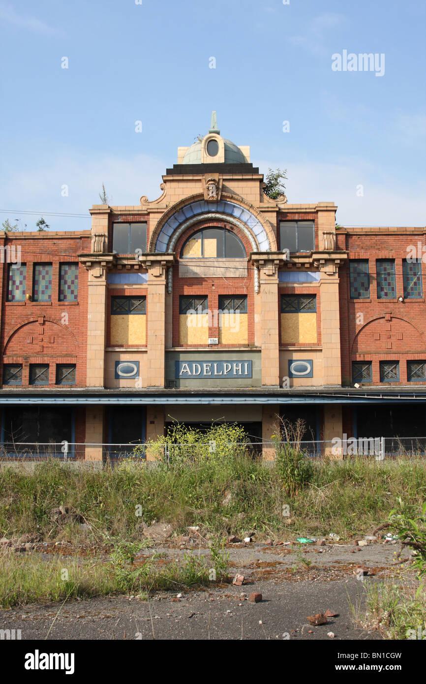 Un cinéma à l'abandon de Sheffield, South Yorkshire, Angleterre, Royaume-Uni Photo Stock