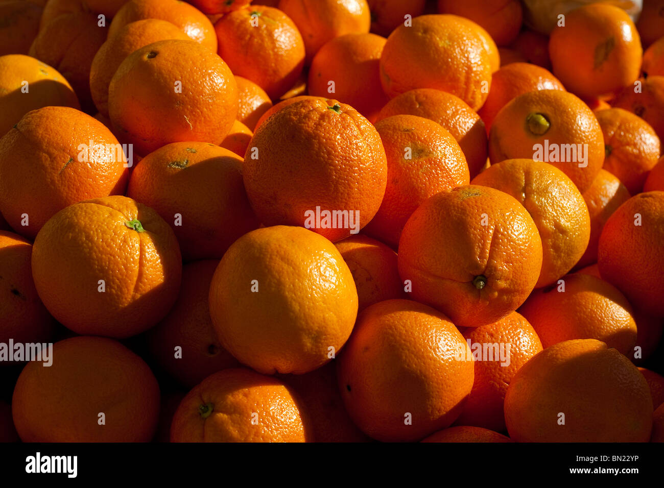 Le marché des fruits. Benavente, Espagne. Banque D'Images