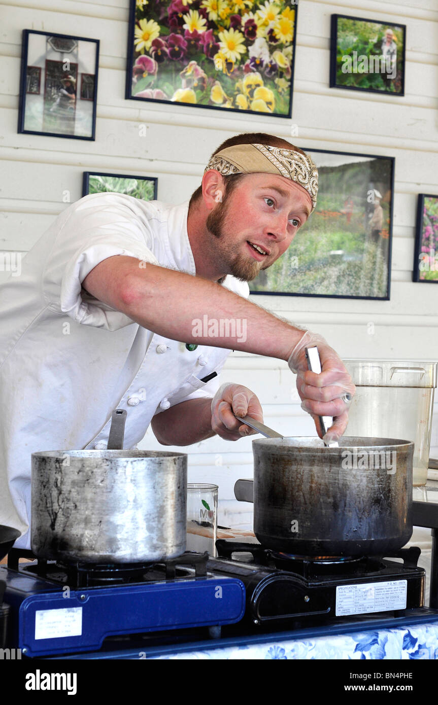 Young male Chef cuisinier, Banque D'Images