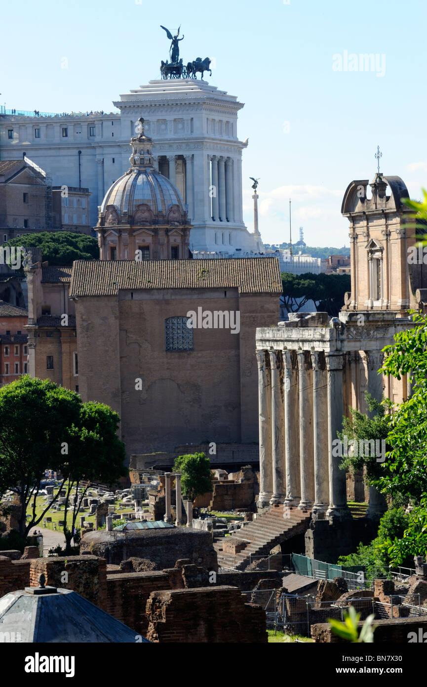 Monument et le Foro Romano à Rome, Italie Photo Stock