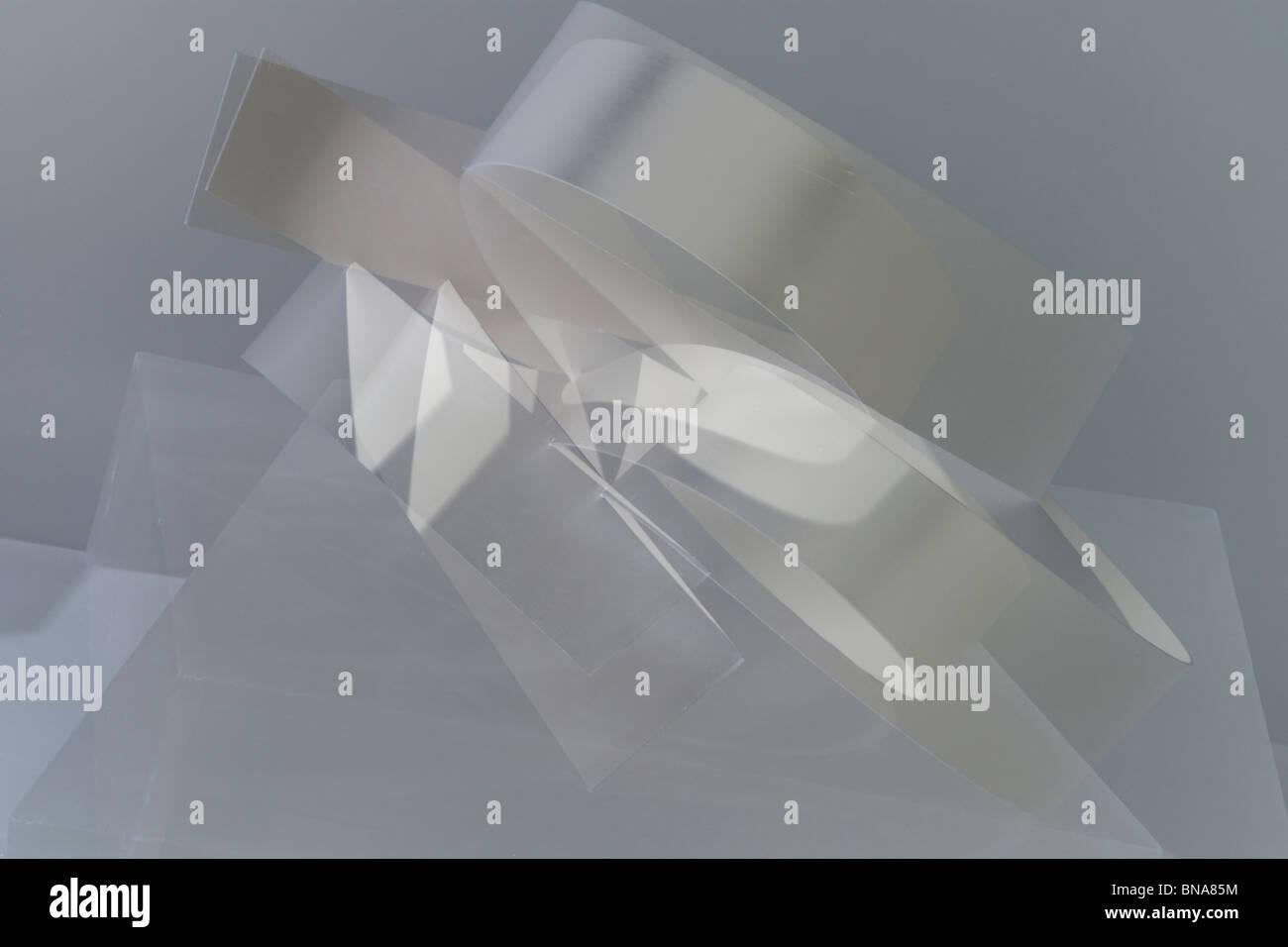 Résumé Le développement de la courbe en noir et blanc Photo Stock