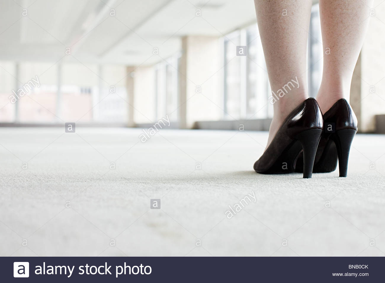 Chaussures de woman in office Photo Stock