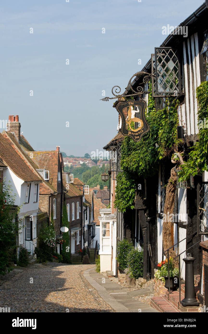 Scène de rue, Rye, East Sussex, Royaume-Uni Photo Stock