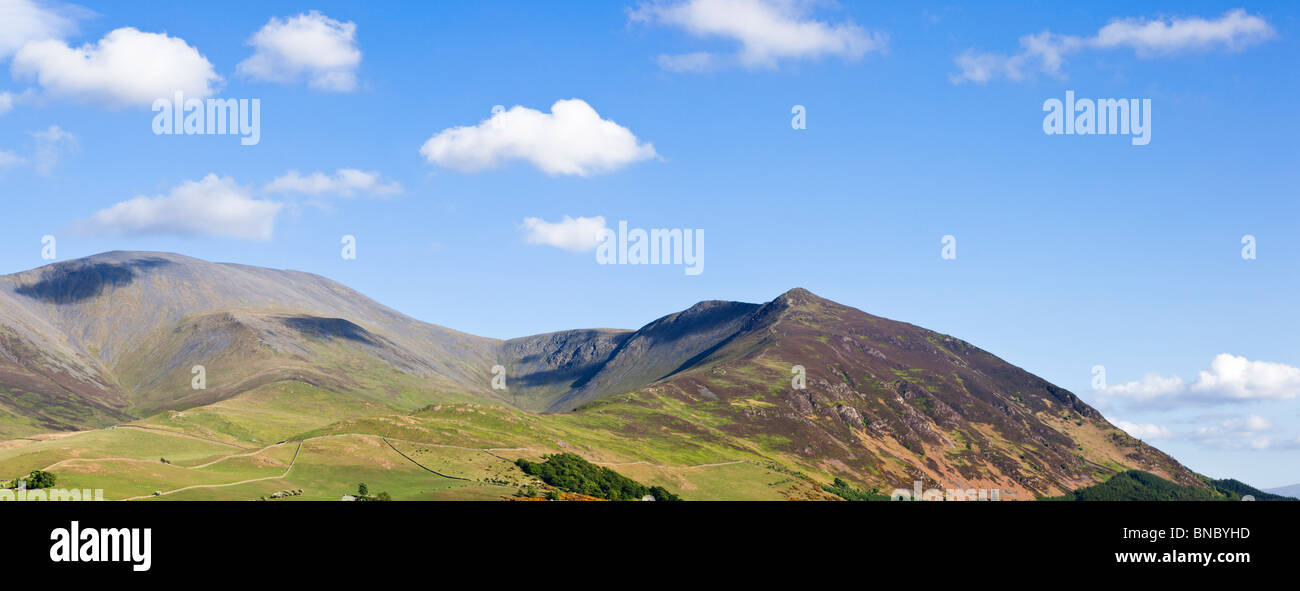Skiddaw Mountain dans le Lake District, Cumbria, England, UK Photo Stock