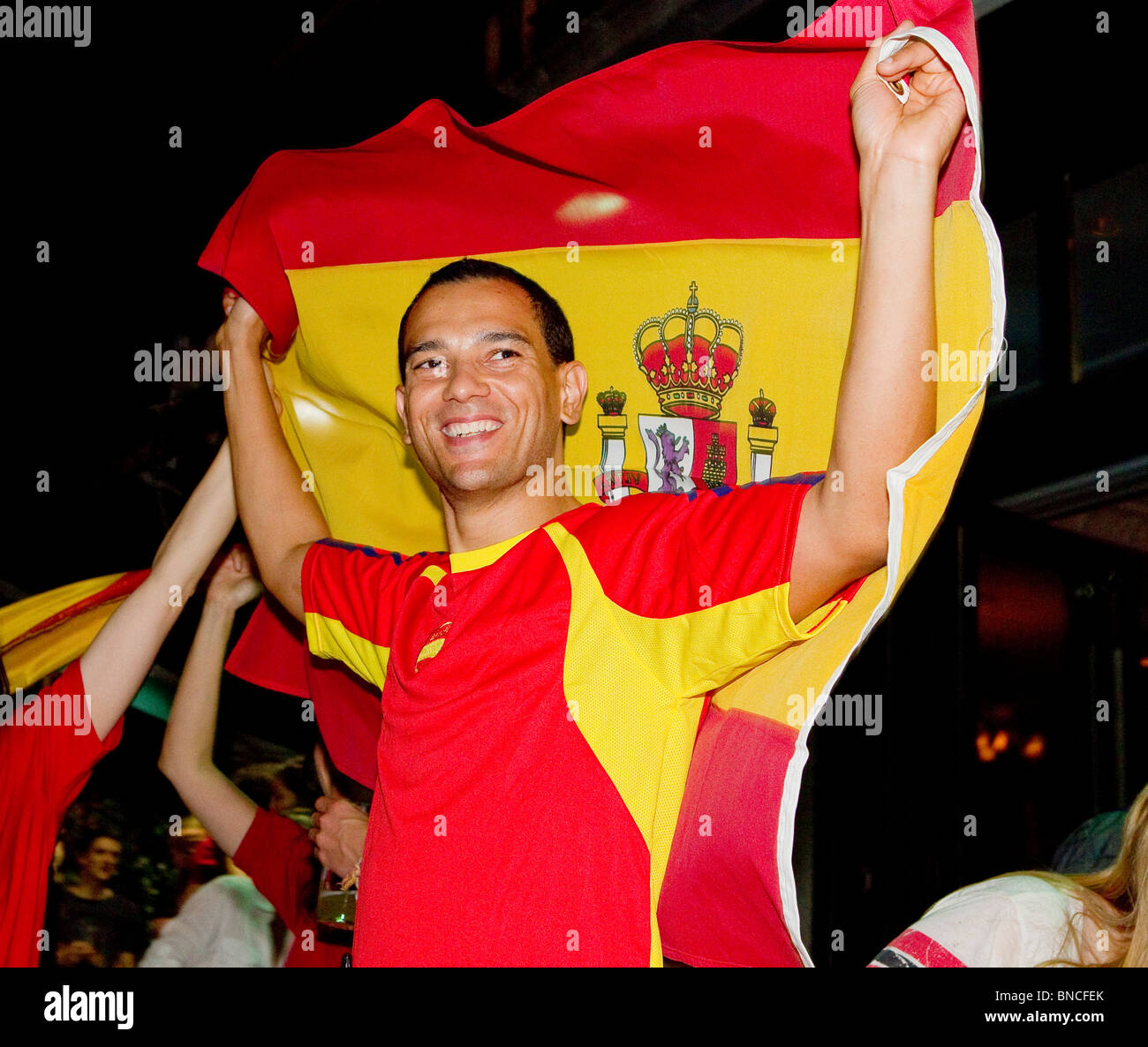 Supporter de football espagnol Photo Stock