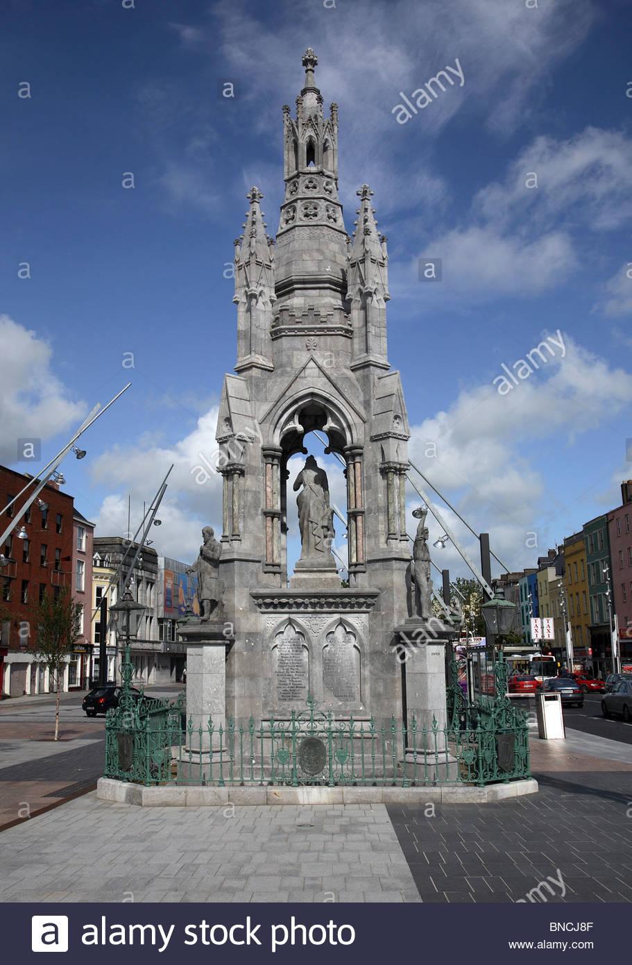 Monument à Liège le nationalisme irlandais Photo Stock