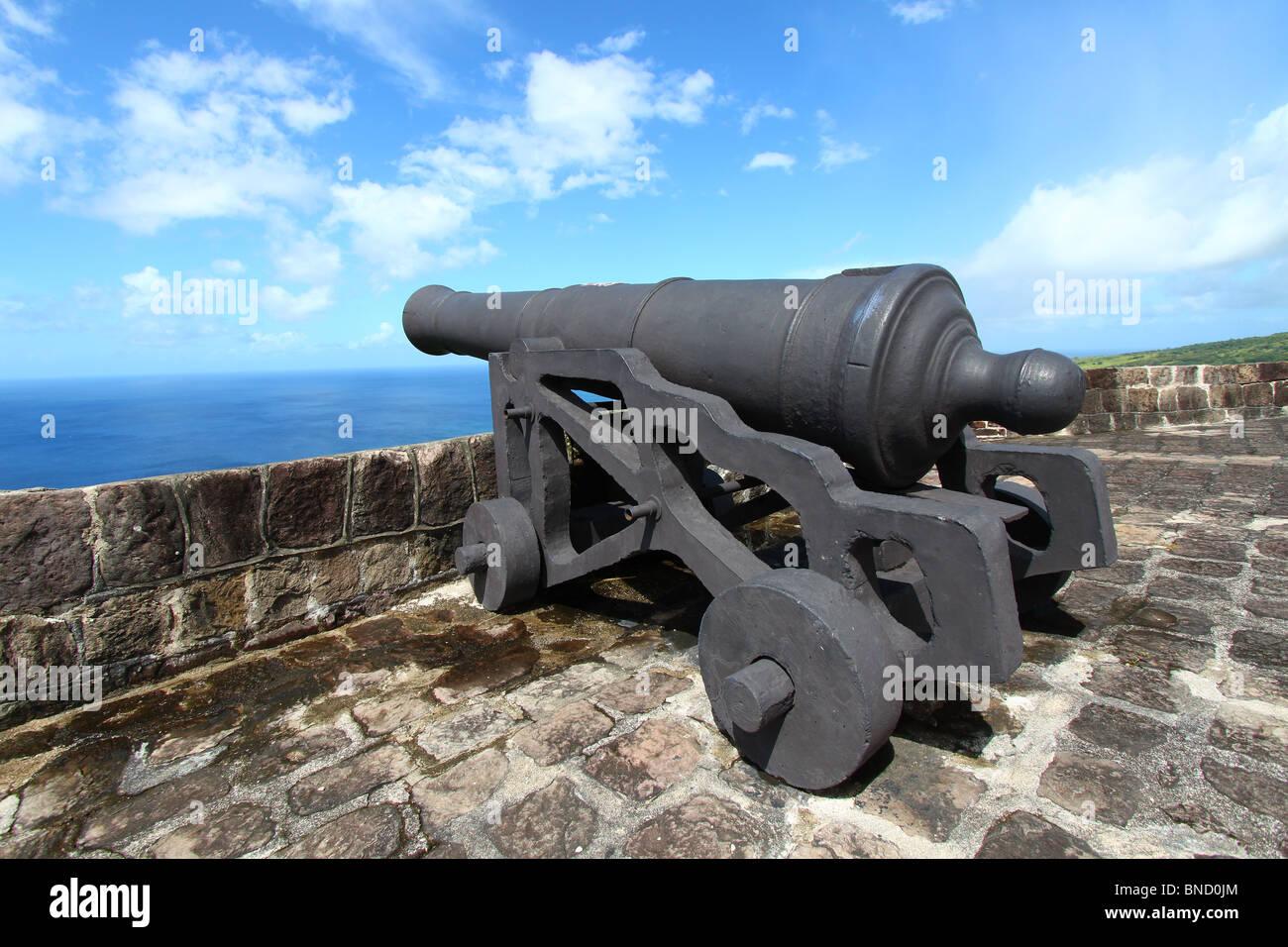 La forteresse de Brimstone Hill - St Kitts Banque D'Images