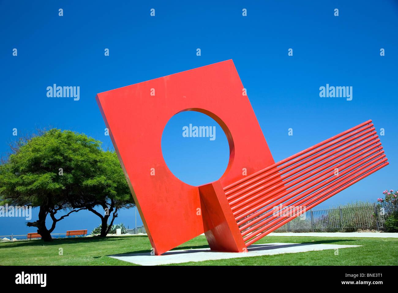 Dov Feigin sculpture moderne du parc de l'indépendance sur la rue Hayarkon - Tel Aviv Photo Stock