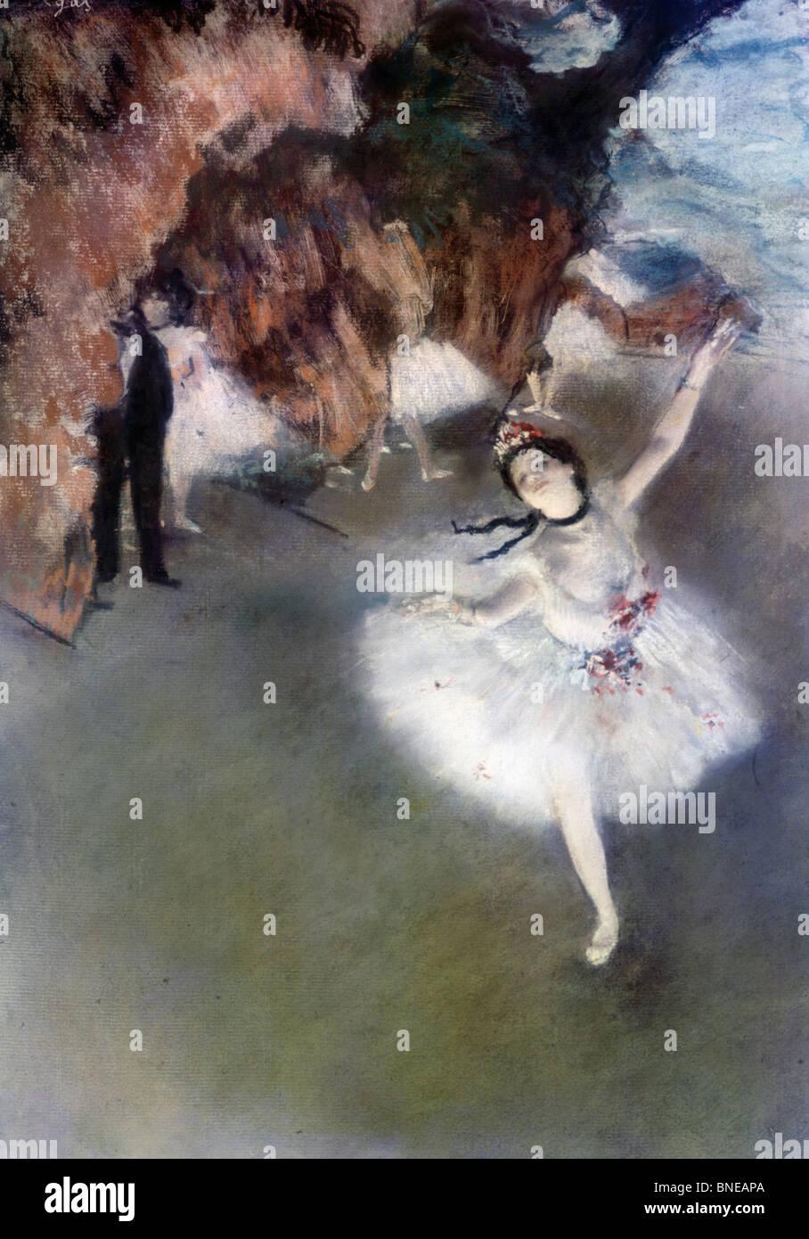 Danseuse Sur la scène L'etoile, par Edgar Degas 1834-1917, France, Paris, Musée d'Orsay, vers 1878 Banque D'Images